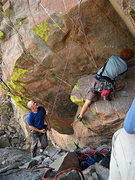 Rock Climbing Photo: Braxton Norwood starting the route.  Photo Chelsea...
