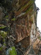 Rock Climbing Photo: Jesse Schultz doing the reverse Huck.