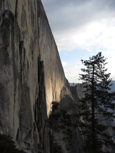 Rock Climbing Photo: When the face first comes into view coming down fr...