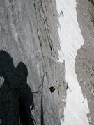 Rock Climbing Photo: View of Anders following pitch 2.