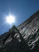 Rock Climbing Photo: Start of pitch 4.