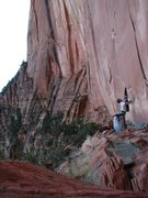 Rock Climbing Photo: God bless camera timers and overhanging sandstone ...