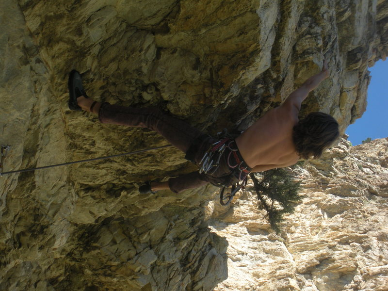 Rock Climbing Photo: Latched the big jug..ready to pull..