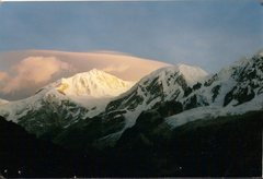 Rock Climbing Photo: Sunrise over the Kabru group (Sikkim, India).