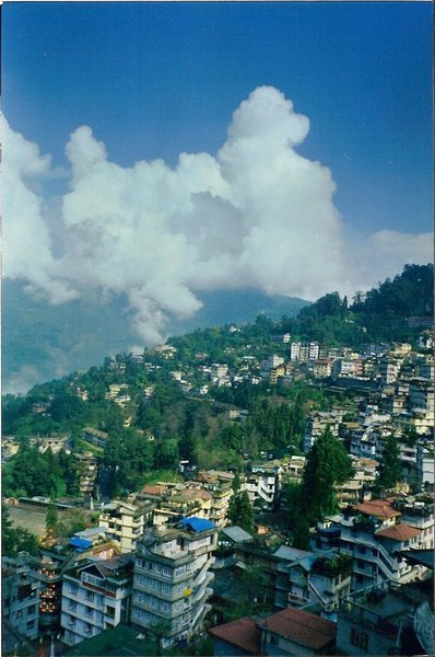 The city of Gangtok.