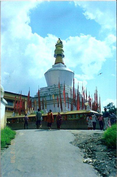A large chorten in Gangtok.