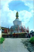 Rock Climbing Photo: A large chorten in Gangtok.