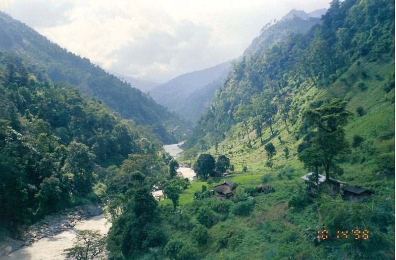 The green foothills of Sikkim.