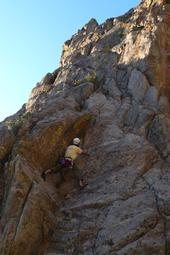 Some random project route at Bitty Buttress, I think...