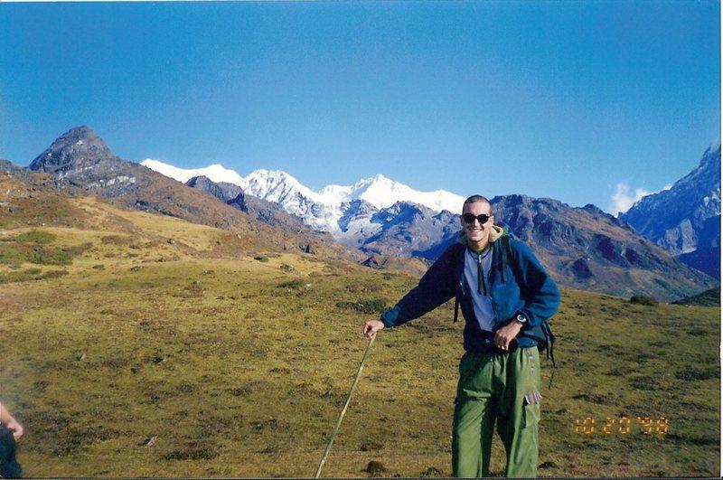 Rock Climbing Photo: Black Kabru and Kangchendzonga.