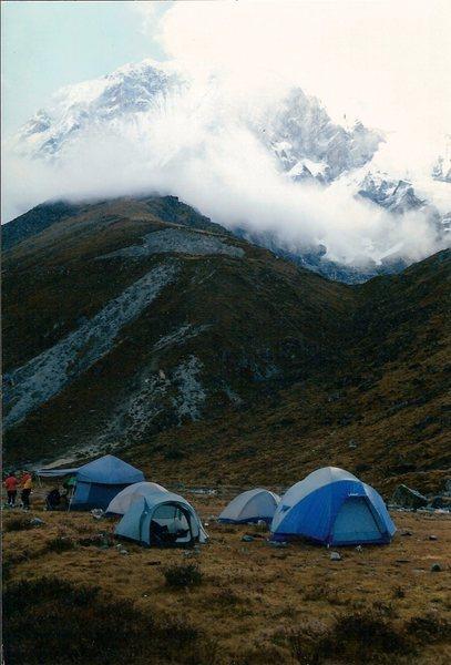 Morning sky beneath Pandim, Sikkim.
