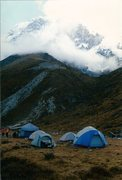 Rock Climbing Photo: Morning sky beneath Pandim, Sikkim.