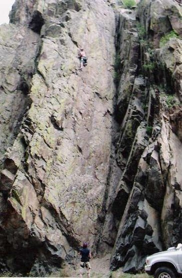Rock Climbing Photo: Left of Seven, great pumpy 5.9+, one of my fav's i...