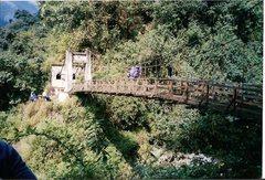 Rock Climbing Photo: Suspension footbridge on the Sikkim trek.
