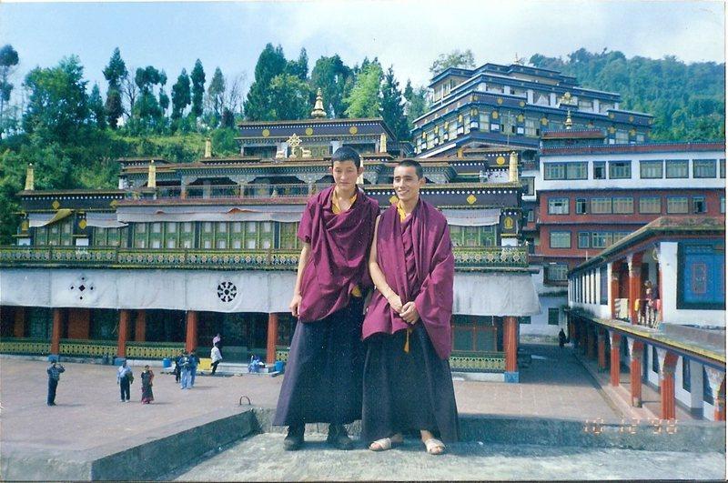 Monks at the Rumtek monastery, Sikkim.