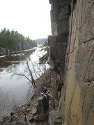 Rock Climbing Photo: At Taylors Falls, MN