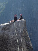 Rock Climbing Photo: Looking back to the Spire tip while making the tra...