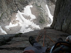Rock Climbing Photo: Belaying at pitch 4.