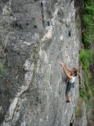 Rock Climbing Photo: Suzanne Knower climbing the lower part of the rout...