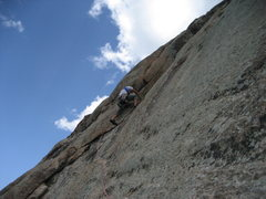 Rock Climbing Photo: Fury just above the traverse on P5.