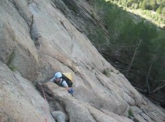 Rock Climbing Photo: D's Nutz at the top of P1.