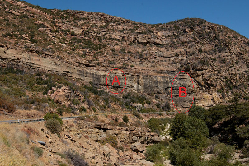 Rock Climbing Photo: Photo of Roadside Crag, on Hwy-33 above Ojai.  The...