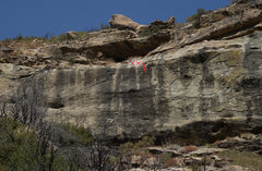 """Rock Climbing Photo: Area """"A"""" This part of the cliff is appro..."""