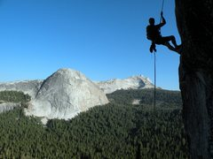 Rock Climbing Photo: Nick rapping off Daff dome