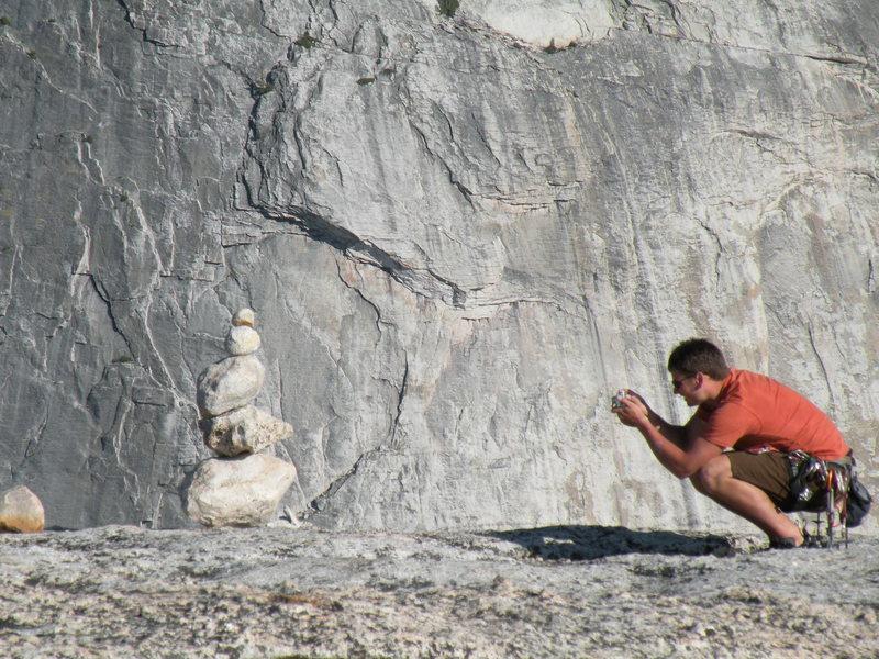 Rock Climbing Photo: Nick on the summit