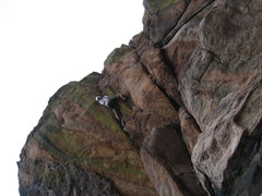 Rock Climbing Photo: Near the crux.