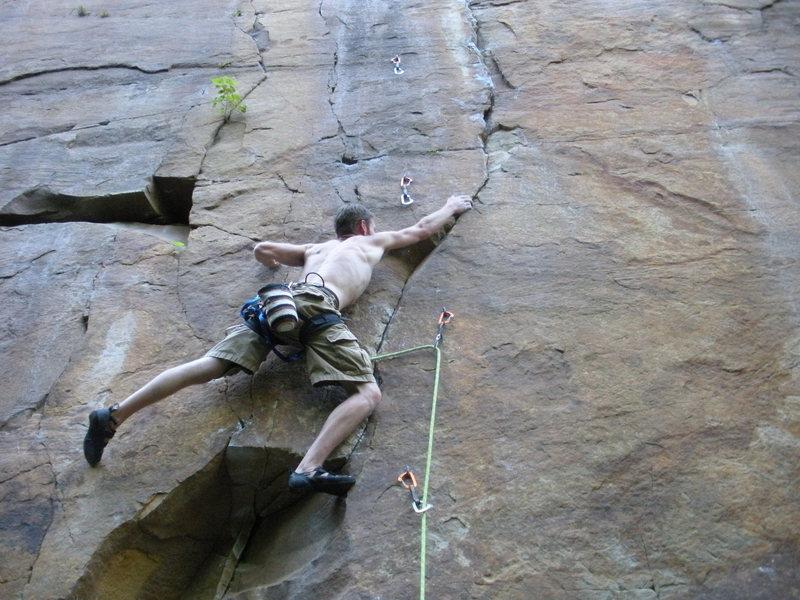 Rock Climbing Photo: Stuck it