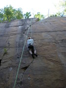 Rock Climbing Photo: Pete on TR, a good look at the whole line