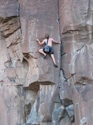 Rock Climbing Photo: George Perkins poised for action on Flyin' A. July...