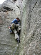 Rock Climbing Photo: The Beginning of Mr. Clean (5.8) at the Barkeater ...