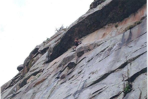 Rock Climbing Photo: One of the more technical climbs at Combat, but a ...