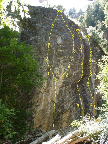 Rock Climbing Photo: Isolation Wall 1. Siberia 5.12d 2. Isolation 5.12c...