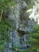 Rock Climbing Photo: Drunken Midget 5.10a  A shady & cool climb on summ...