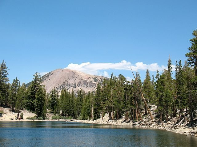 Mammoth Mtn. from Lake Barrett, Mammoth Lakes Basin<br>