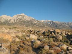 Rock Climbing Photo: Lone Pine Peak from Horseshoe Meadows CG, Lone Pin...