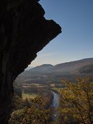 Rock Climbing Photo: A view of the Baker River from Orange Crush Wall i...
