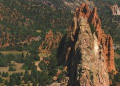 Rock Climbing Photo: North looking view of the Garden of the Gods from ...