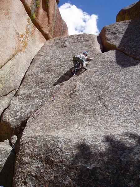 Rock Climbing Photo: Jenny Chamberlain leading Cornelius.