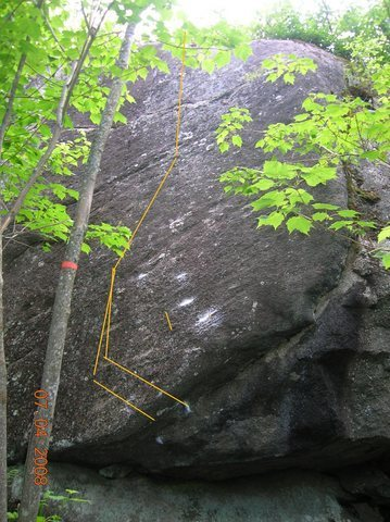 Rock Climbing Photo: The variation