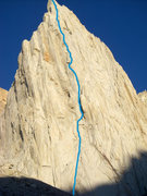 Rock Climbing Photo: The approximate location of Positive Vibrations.