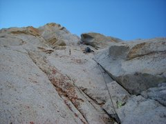 Rock Climbing Photo: Looking up at the second pitch.