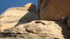 Rock Climbing Photo: Willie C. on P. 1 BOF
