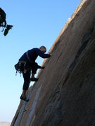 Rock Climbing Photo: Pulling through the final small face move (5.9ish)...