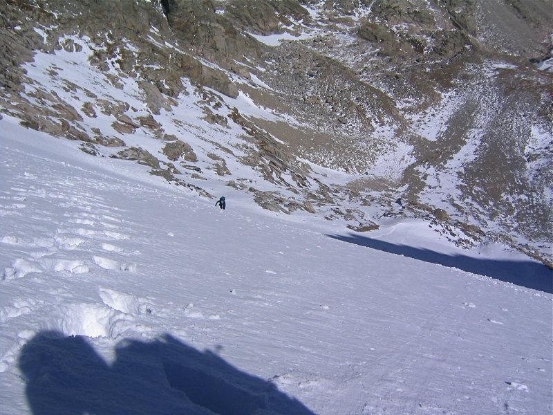 Randall Weekley on the snowfield.<br> Nov. 04
