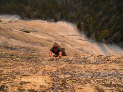 Rock Climbing Photo: Nick finishing up the last moves of Crying Time Ag...