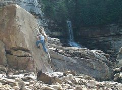 Rock Climbing Photo: me climbing easy stuff because all the routes are ...